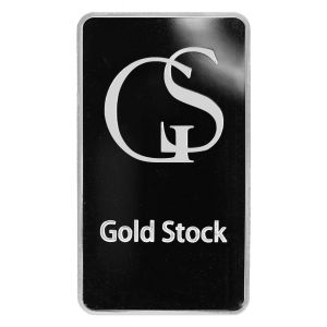 10 OZ SILVER GOLD STOCK BAR front
