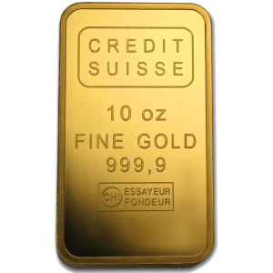 10 OZ GOLD CREDIT SUISSE BAR