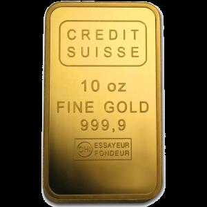 10 OZ GOLD CREDIT SUISSE BAR