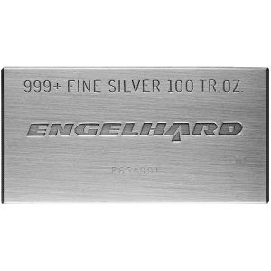 100 OZ SILVER ENGELHARD BAR OR SIMILAR