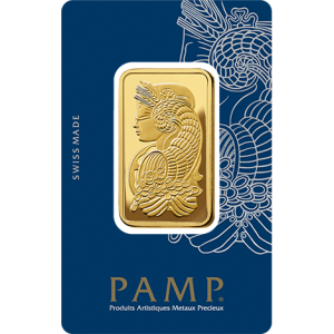 1 oz Gold Bar - Pamp Suisse Lady Fortuna