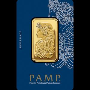 1 oz Gold Bar - Pamp Suisse Lady Fortuna