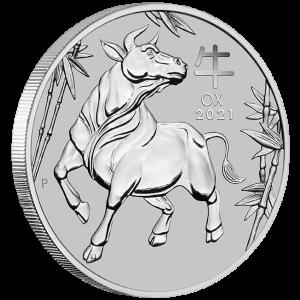 1 OZ 2021 Austrailian Lunar Ox coin