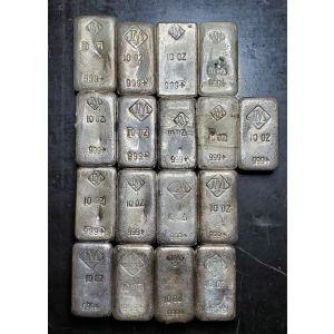 JOHNSON MATTHEY 10oz VINTAGE POURED BAR BATCH