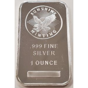 SILVER 1 OZ SUNSHINE MINT BAR