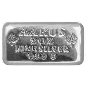 2 OZ AARUS Silver Bar