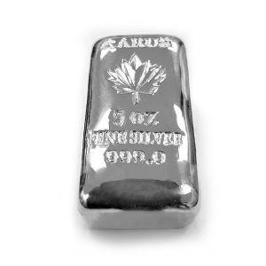 5 OZ AARUS Silver Bar