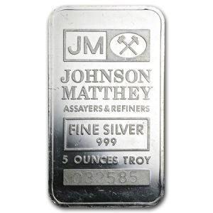 5 OZ SILVER BAR jm