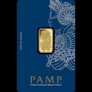 GOLD 5 GRAM PAMP SUISSE BAR FRONT