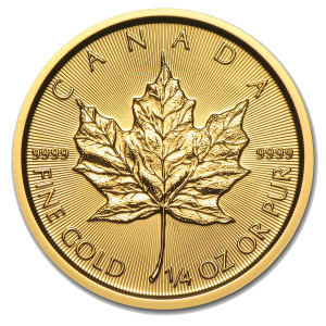 GOLD 1/4 OZ MAPLE COIN FRONT