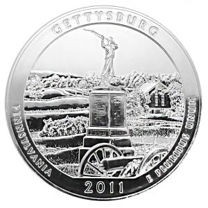 Silver 5 oz Silver Gettysburg National Military Park