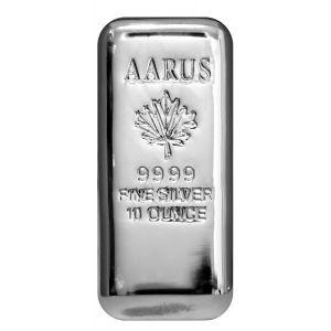 10 OZ AARUS Silver Bar