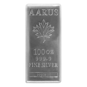 100 oz Silver AARUS Bar