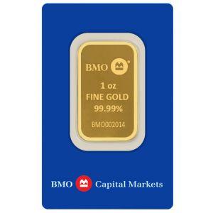 Gold 1 OZ Bank Of Montreal .9999 Bar