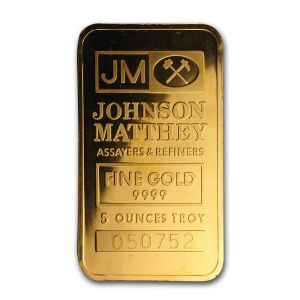 5 OZ GOLD BAR (ASSORTED) FRONT JM
