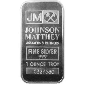 1 OZ SILVER JOHNSON MATTHEY BAR