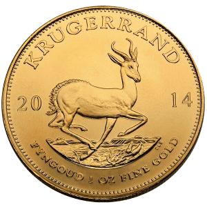 1 OZ GOLD SOUTH AFRICAN KRUGERRAND FRONT