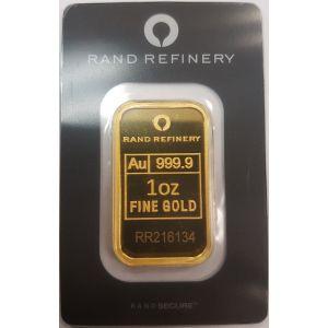Gold 1 OZ Rand Refinery Bar