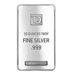 Silver 10 OZ TD Bank Bar