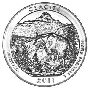 Silver 5 oz Glacier Coin
