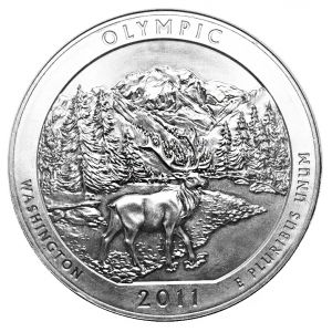 Silver 5 Oz Olympic National Park Coin