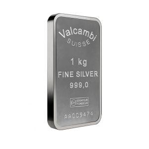 1 Kilo Silver Valcambi Suisse Bar