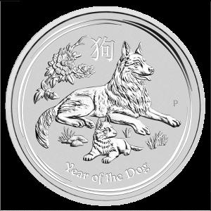 Silver Australian Lunar Dog 2 oz 2018 Coin
