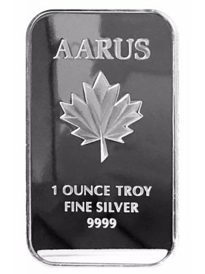 Silver 1 oz Aarus Bar .9999