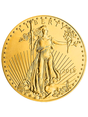 1 OZ GOLD AMERICAN EAGLE COIN BACK