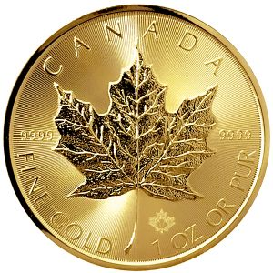 1 OZ GOLD CANADIAN MAPLE COIN 2017