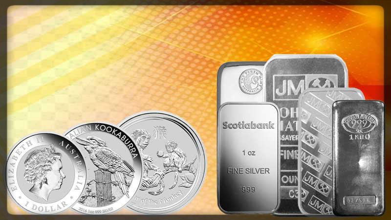 silver coins & silver bar